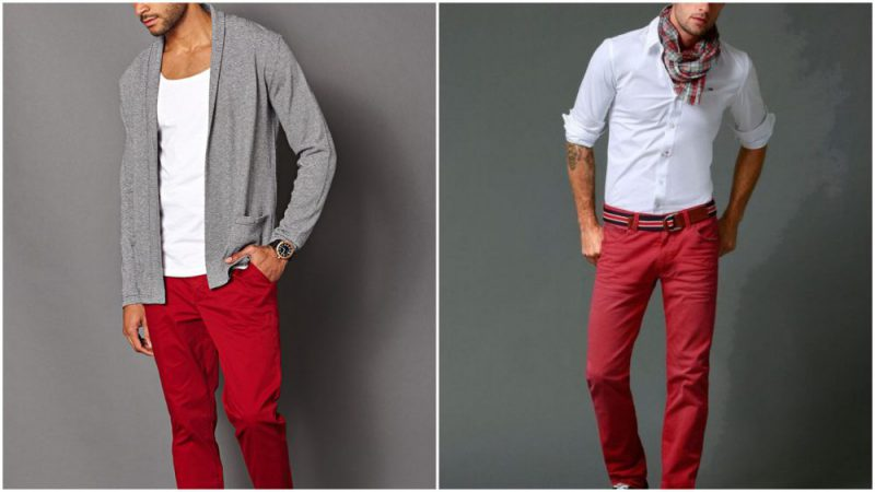 Como Usar Pantalones Rojos Para Hombre Moda Hombre